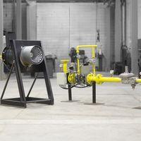 Queimador de biogás tipo flare